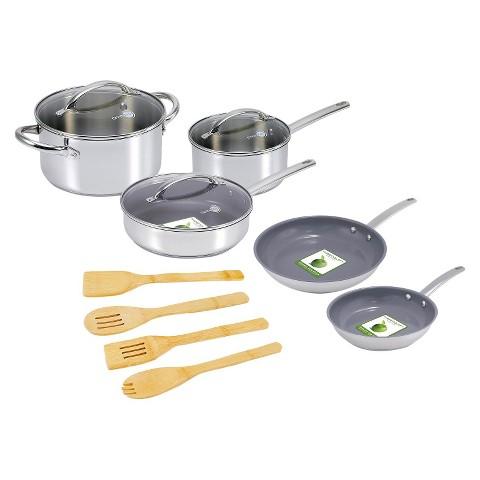 GreenPan12Pcs Miami Stainless Steel Cookware Set