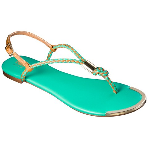 Women's Mossimo Audrey Braided Strap Sandal - Assorted Colors