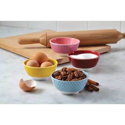 Cake Boss 4 Piece Countertop Accessories Melamine Prep Bowl Set