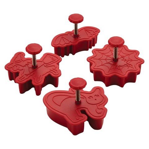 Cake Boss Decorating Tools 4-Piece Halloween Fondant Press Set