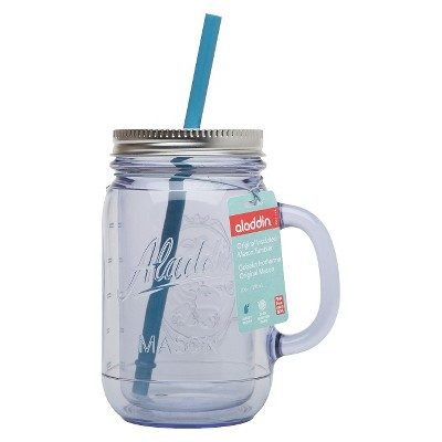 Aladdin Double-Walled Plastic Mason Jar - Clear (20 oz)