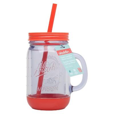 Aladdin Mason Jar Travel Mug with Handle - Orange (20oz)