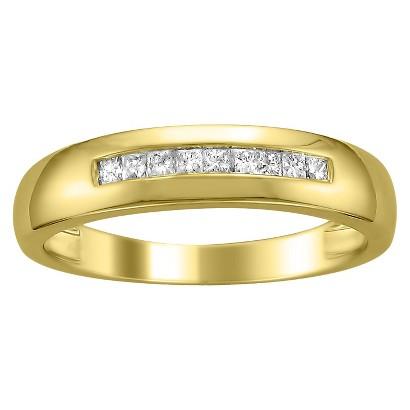 1/4 CT. T.W. Princess-cut Channel Set Diamond Men's Wedding Band in 14K Yellow Gold (HI-SI2-I1)