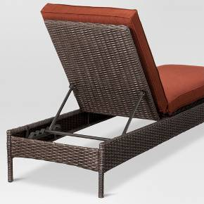 Belvedere wicker patio chaise lounge navy threshold for Belvedere chaise lounge