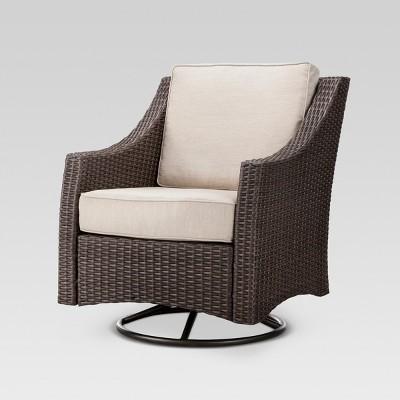 Belvedere Wicker Patio Swivel Club Chair - Threshold™