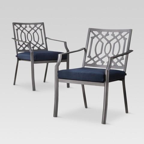 Harper 2 Piece Metal Patio Dining Chair Set Th Tar