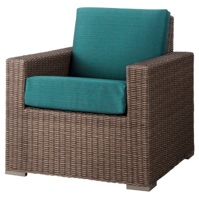 Heatherstone Wicker Patio Club Chair Turquoise - Threshold™