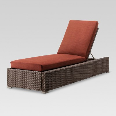 Heatherstone Wicker Patio Chaise Lounge - Orange - Threshold™