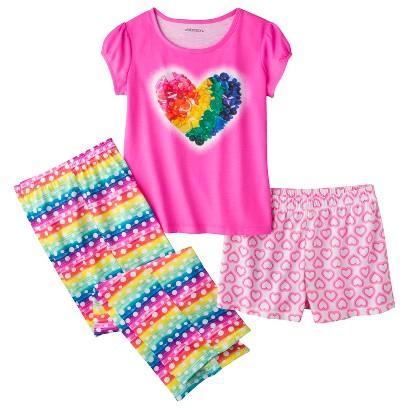 Xhilaration® Girls' 3-Piece Short-Sleeve Pajama Set