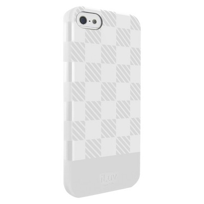 iLuv Gelato Checker TPU Cell Phone Case for iPhone 5S - Gray (AI5GELCWH)