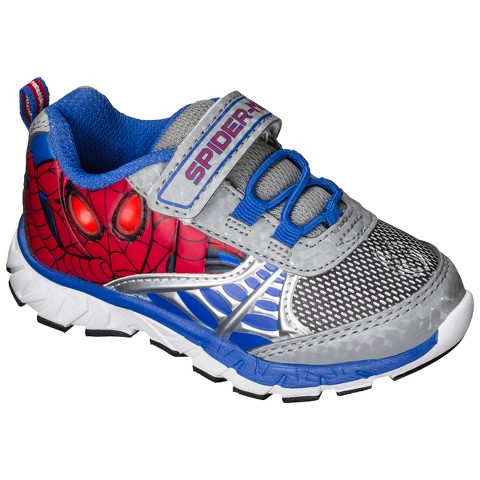 Toddler Boy's Spiderman Light Up Sneakers - Blue