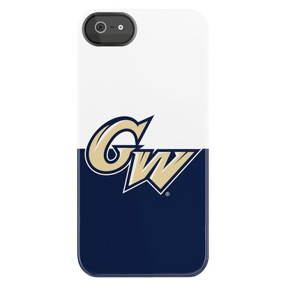 Collegiate Deflector Cell Phone Case for iPhone 5 - Dark Blue/White (C0500-BV)
