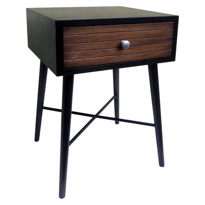 THRESHOLD™ ACCENT TABLE WITH RIBBED DRAWER - ESPRESSO
