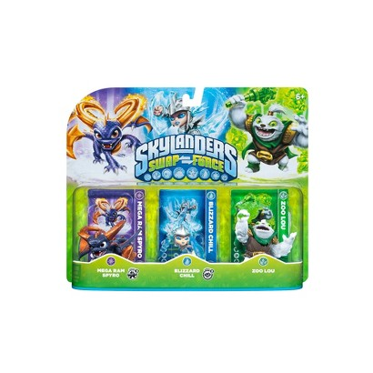 Skylanders Swap Force Character Triple Pack 2 - Mega Ram Spyro, Blizzard Chill, and Zoo Lou