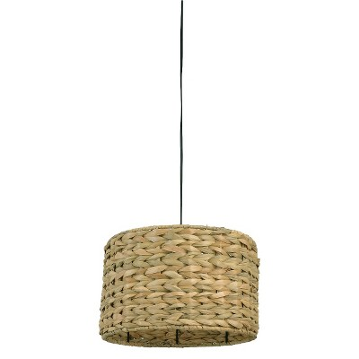 Mudhut™ Seagrass Ceiling Light - Brown (Includes CFL Bulb)