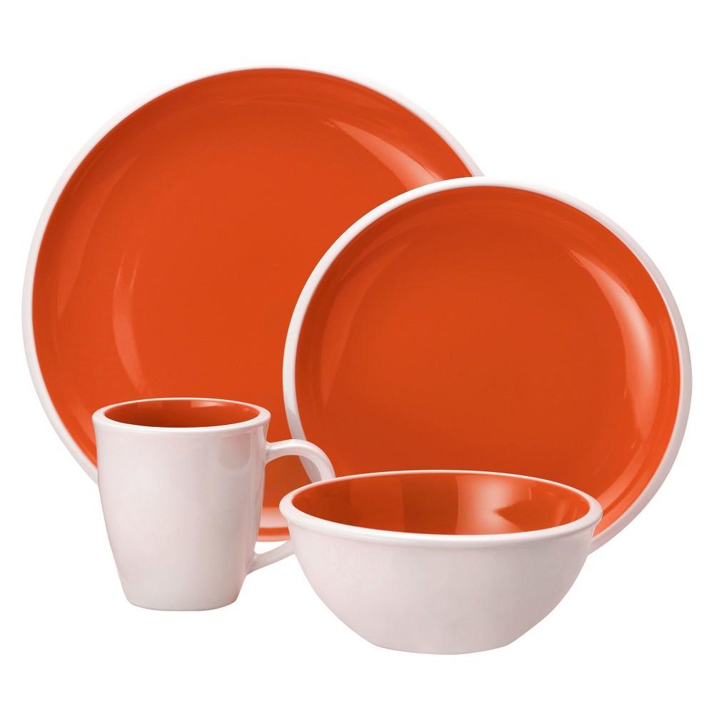Rachael Ray 16 Piece Dinnerware Set, Orange