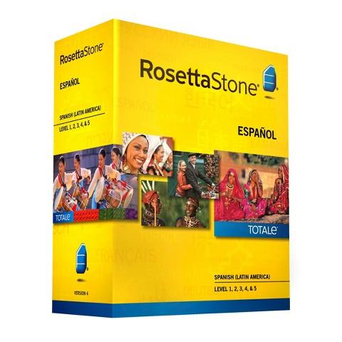 Rosetta Stone Spanish (Latin America) v4 TOTALe - Level 1, 2, 3, 4 & 5 Set - Learn Spanish