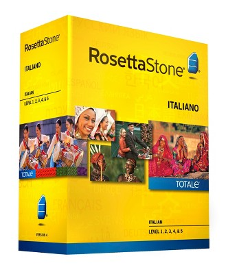 Rosetta Stone Italian v4 TOTALe - Level 1, 2, 3, 4, & 5 Set - Learn Italian