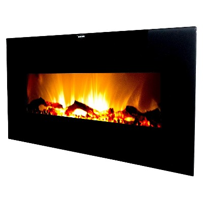 "Frigidaire Valencia 50"" Wall Hanging Electric Fireplace with 2 Heat Settings and Remote Control"