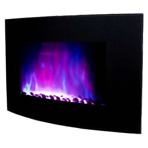 """Frigidaire Vienna 35"""" Wall Mounted Color Changing Fireplace with Remote Control"""