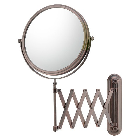 Mirror Image Extension Arm 5X Wall Mirror - Italian Bronze