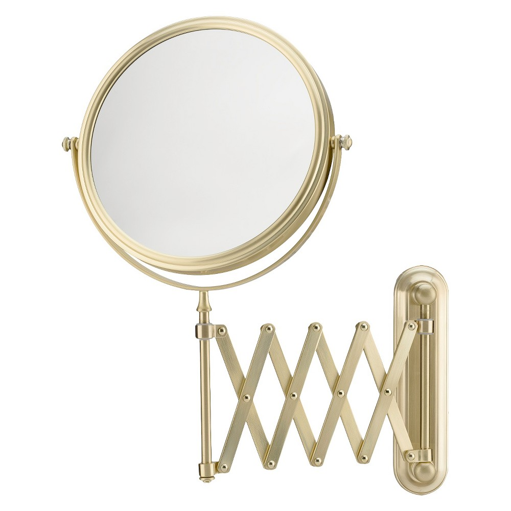 9 Makeup Magnifying Vanity Mirror Acrylic And Brass Dual