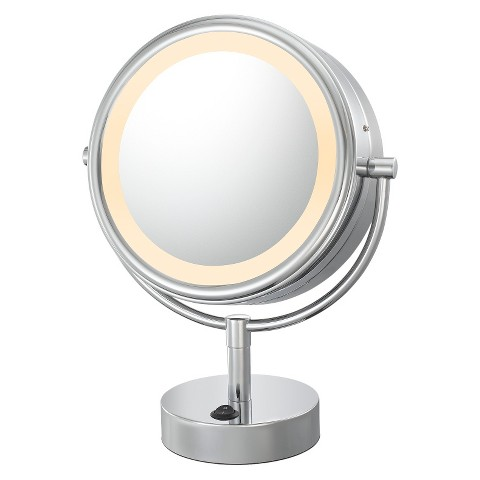 Mirror Image Neomodern Double-sided, LED 5X/1X Lighted Mirror  - Chrome