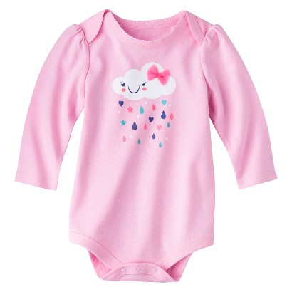 Circo® Newborn Girls' Lap Shoulder Bodysuit - Pink