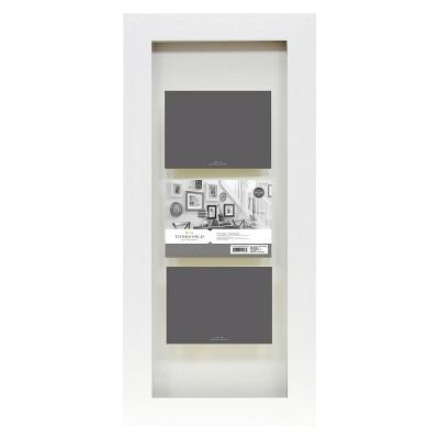 "4""x6"" Flat Gallery 3-Opening Float Frame White - Threshold™"