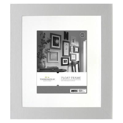 "8""x10"" Flat Gallery Float Frame White - Threshold™"