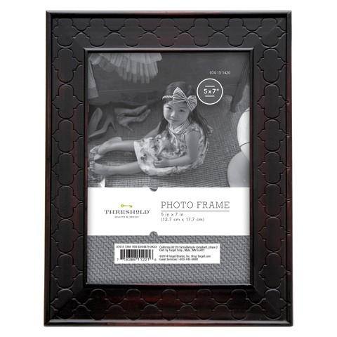 "5""x7"" Rubbed Bronze Frame Black - Threshold™"