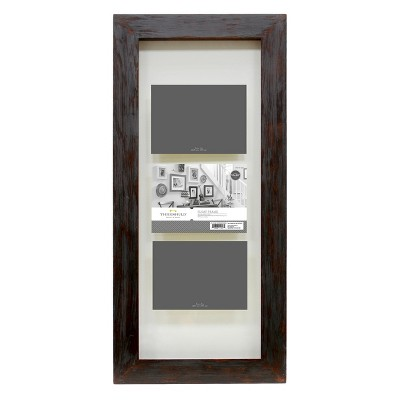 "4""x6"" Multiple Image Flat Gallery Float Frame Espresso - Threshold™"