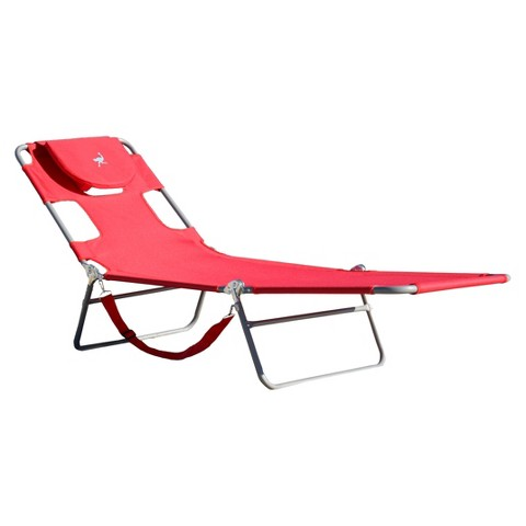 Ostrich Patio Comfort Chaise Lounge - Red