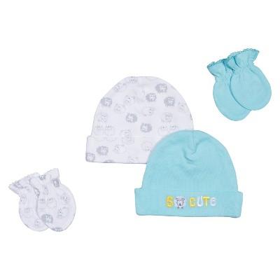 Gerber® Newborn 2 Piece Lamb Hat and Mitten Set 0-6 M