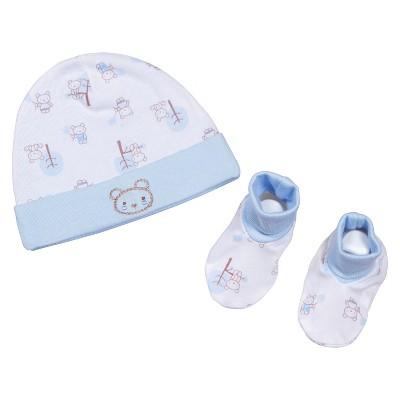 Gerber® Newborn 2 Piece Little Bear Hat and Bootie Set 0-6 M