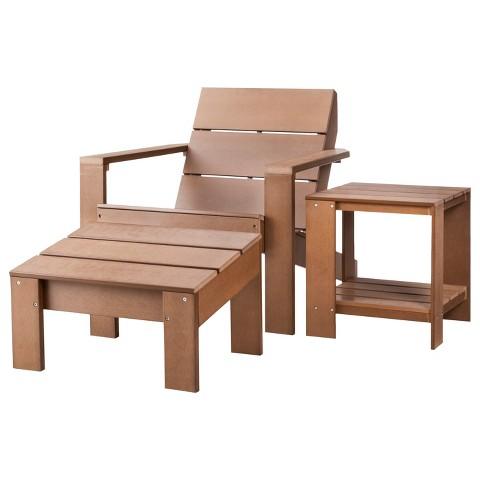 Threshold™ Bryant 3-Piece Faux Wood Patio Adirondack Chat Furniture Set