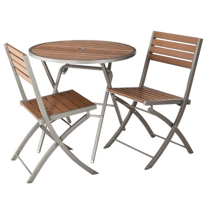 Threshold™ Bryant 3-Piece Faux Wood Patio Bistro Furniture Set