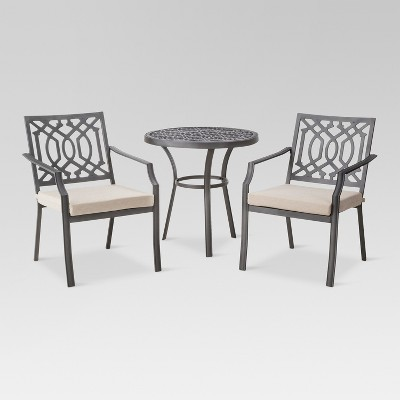 Harper 3-Piece Metal Patio Bistro Furniture Set - Tan - Threshold™