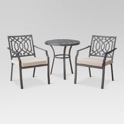 Harper 3-Piece Metal Patio Bistro Furniture Set - Tan - Threshold™