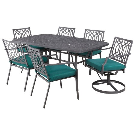 Harper 7 Piece Metal Rectangular Patio Dining Set Threshold Target