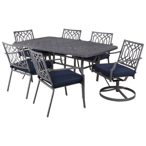 Threshold™ Harper 7-Piece Metal Rectangular Patio Dining Set