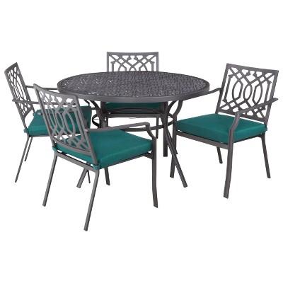Harper 5-Piece Metal Round Patio Dining Furniture Set- Turquoise  - Threshold™