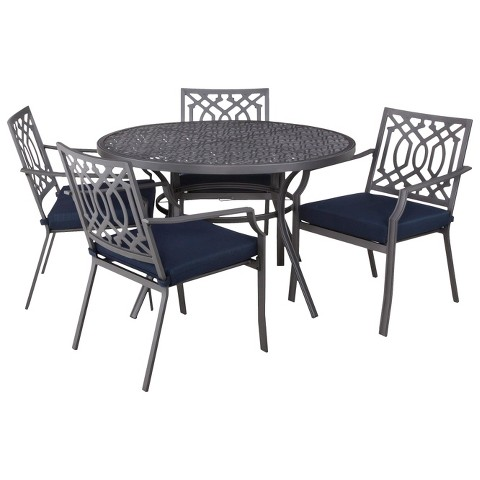 Harper 5 Piece Round Patio Dining Furniture Set Target