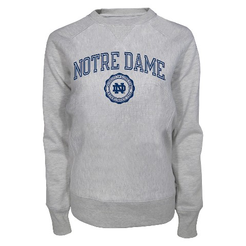 Notre Dame Fighting Irish Women's Crew Neck Sweatshirt - Ash