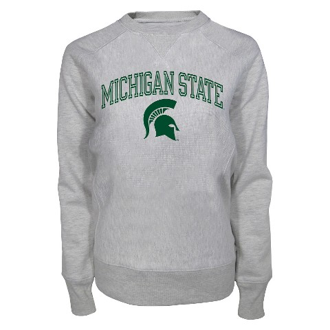 Michigan State Spartans Women's Crew Neck Sweatshirt - Ash