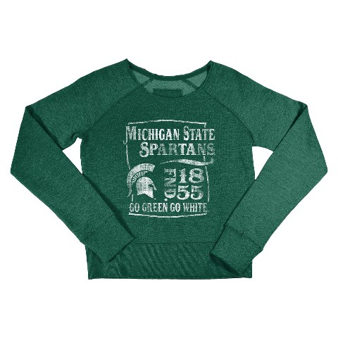Michigan State Spartans Kid's Crew Neck Sweatshirt - Green