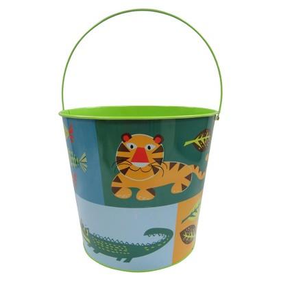 Easter Jumbo Tin Basket Jungle