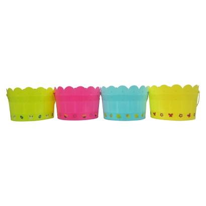Easter Fence Basket Plastic Assorted Colors