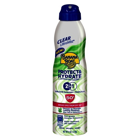 Banana Boat Protect & Hydrate 2-in-1 Sunscreen Spray with SPF 50+ - 6 oz