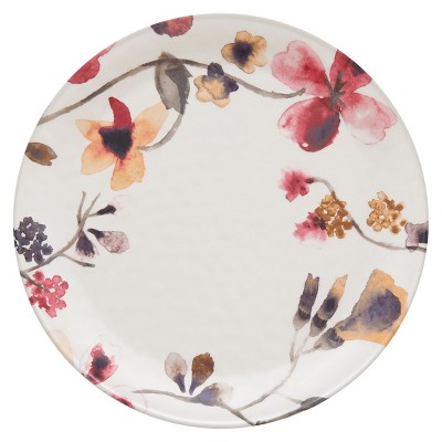 Round Floral Dinner Plate